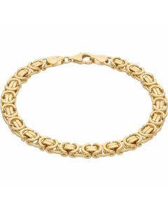 New 9ct Gold 8 Inch Solid Flat Byzantine Bracelet 20.3grams