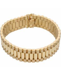 New 9ct Yellow Gold 9 Inch 20mm Width Rolex Style Bracelet 2.1oz