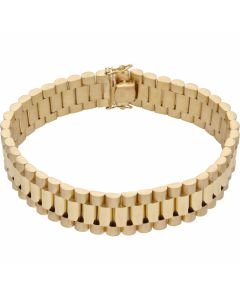 New 9ct Yellow Gold 9 Inch 16mm Width Rolex Style Bracelet 1.6oz