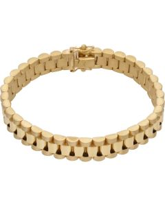 New 9ct Yellow Gold 7.5Inch 10mm Width Rolex Style Bracelet 29g