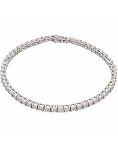 New 9ct White Gold 0.33ct Diamond Set Tennis Bracelet