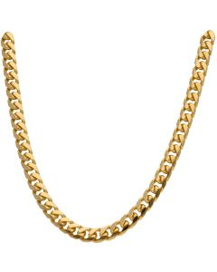 New 9ct Gold Heavy Solid 24Inch Cuban Curb Chain Necklace 2.7oz