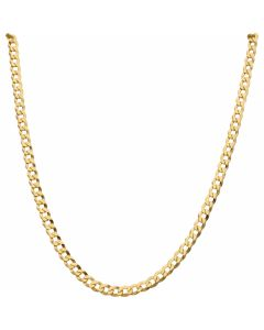 New 9ct Yellow Gold 26 Inch Solid Curb Link Chain Necklace 22g