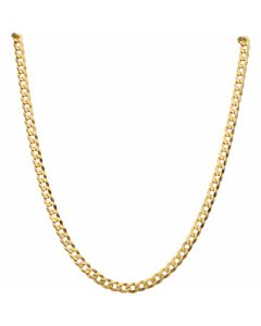 New 9ct Yellow Gold 28 Inch Solid Curb Link Chain Necklace 22.4g