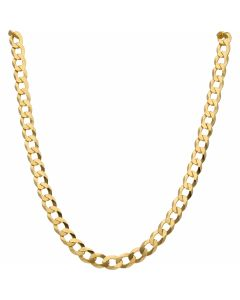 New 9ct Yellow Gold 20 Inch Solid Curb Link Chain Necklace 29.2g