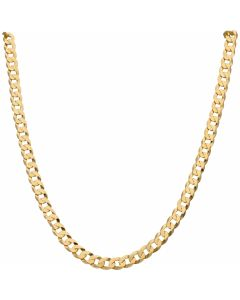 New 9ct Yellow Gold 22 Inch Solid Curb Link Chain Necklace 21g