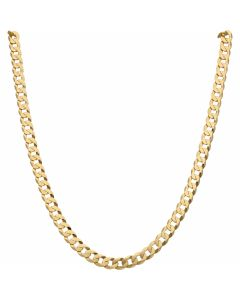 New 9ct Yellow Gold 24 Inch Solid Curb Link Chain Necklace 22.g