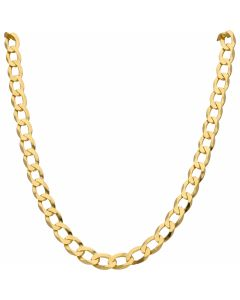 New 9ct Yellow Gold 22 Inch Flat Curb Link Chain Necklace 1.3oz