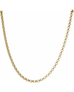 New 9ct Yellow Gold 18 Inch Hollow Round Belcher Chain Necklace