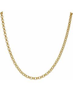 """New 9ct Yellow Gold 24"""" Soild Round Belcher Chain Necklace 24.6g"""