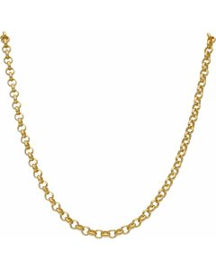 """New 9ct Yellow Gold 20"""" Soild Round Belcher Chain Necklace 25.8g"""