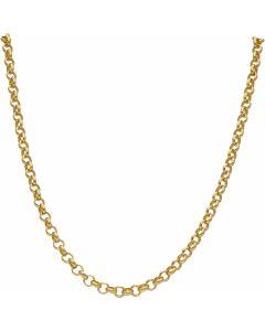 """New 9ct Yellow Gold 22"""" Soild Round Belcher Chain Necklace 28.4g"""