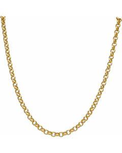 """New 9ct Yellow Gold 24"""" Soild Round Belcher Chain Necklace 31g"""