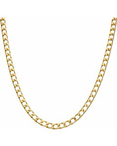 New 9ct Gold Solid 20 Inch Heavy Square Curb Necklace 1.1oz