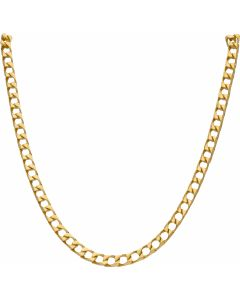 New 9ct Gold Solid 24 Inch Heavy Square Curb Necklace 1.4oz