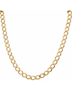 New 9ct Yellow Gold 26 Inch Flat Curb Link Chain Necklace 1.1oz