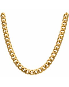 New 9ct Gold Solid Heavy 24 Inch Cuban Curb Chain Necklace 3.7oz