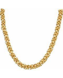 New 9ct Yellow Gold Heavy 24 Inch Flat Byzantine Necklace 4oz