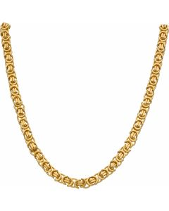 New 9ct Gold 20 Inch Solid Flat Byzantine Chain Necklace 1.7oz