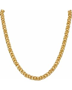 New 9ct Gold 22 Inch Solid Flat Byzantine Chain Necklace 1.9oz