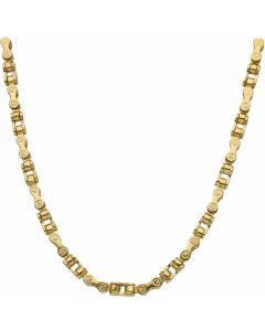 New 9ct Yellow Gold 22 Inch Bike Style Link Mens Necklace 21.6g