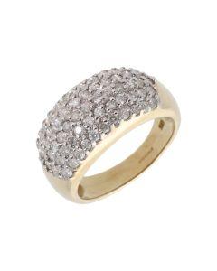 New 9ct Yellow Gold 1.00ct Diamond Set Band Ring