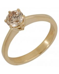 Pre-Owned 18ct Yellow Gold 0.75ct Carat Diamond Solitaire Ring