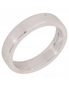 Pre-Owned 18ct White Gold 4mm Plain Wedding Band Ring