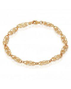 New 9ct Gold Celtic Link Ladies Bracelet