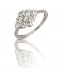 New 9ct White Gold 1.05ct Diamond Set Cluster Ring