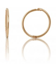 New 9ct Yellow Gold 12mm Diamond-Cut Hinged Sleep Earrings