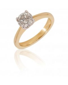 New 18ct Yellow Gold 0.90 Carat Diamond Solitaire Ring