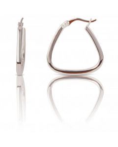 New Sterling Silver Handbag Shaped Creole Hoop Earrings