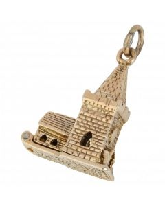 Pre-Owned 9ct Yellow Gold Opening Church Charm