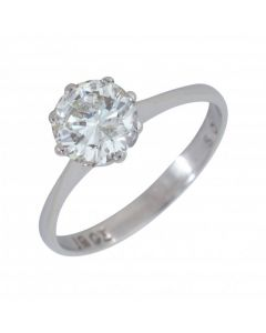 Pre-Owned 9ct White Gold 1.13 Carat Diamond Solitaire Ring