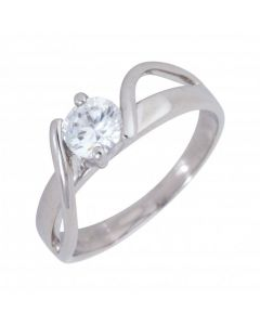 Pre-Owned 9ct White Gold Cubic Zirconia Solitaire Ring