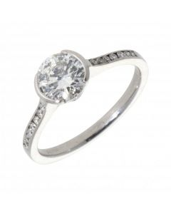 Pre-Owned 18ct White Gold 1.18 Carat Diamond Solitaire Ring