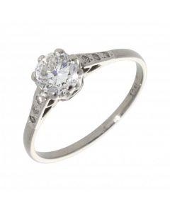 Pre-Owned Palladium 1.00 Carat Diamond Solitaire Ring