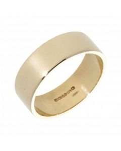 Pre-Owned 9ct Yellow Gold 7mm Flat Wedding Band Ring