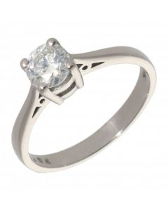 Pre-Owned 18ct White Gold 0.64 Carat Diamond Solitaire Ring