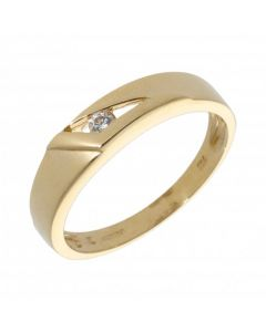 Pre-Owned 18ct Gold Tension Set Cubic Zirconia Band Ring