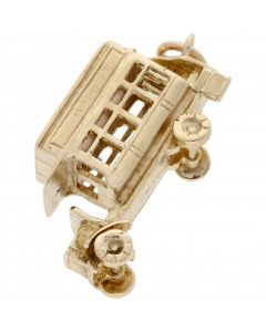 Pre-Owned 9ct Yellow Gold Open Top Bus Charm