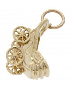 Pre-Owned 9ct Yellow Gold Pram Charm