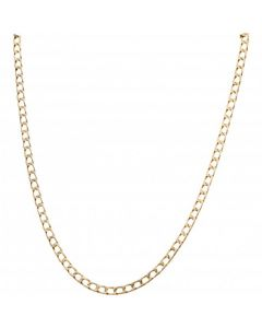 Pre-Owned 9ct Yellow Gold 18 Inch Square Curb Chain Necklace