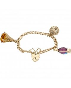 Pre-Owned 9ct Yellow Gold Charm Bracelet & Assorted Charms