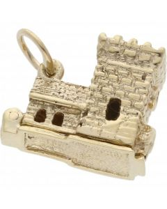 Pre-Owned 9ct Yellow Gold Opening Wedding Church Charm