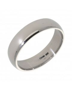 Pre-Owned 9ct Palladium 6mm Wedding Band Ring
