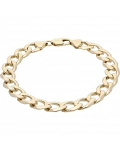 Pre-Owned 9ct Yellow Gold 9 Inch Curb Bracelet