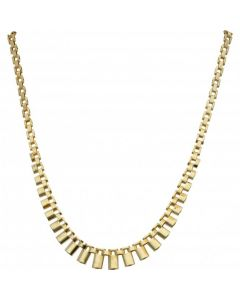 Pre-Owned 9ct Yellow Gold 17 Inch Cleopatra Style Necklet