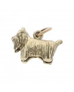 Pre-Owned 9ct Yellow Gold Dog Charm